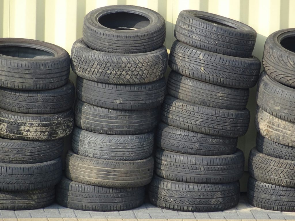 old-used-tires